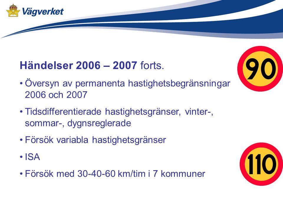 Händelser 2006 – 2007 forts.