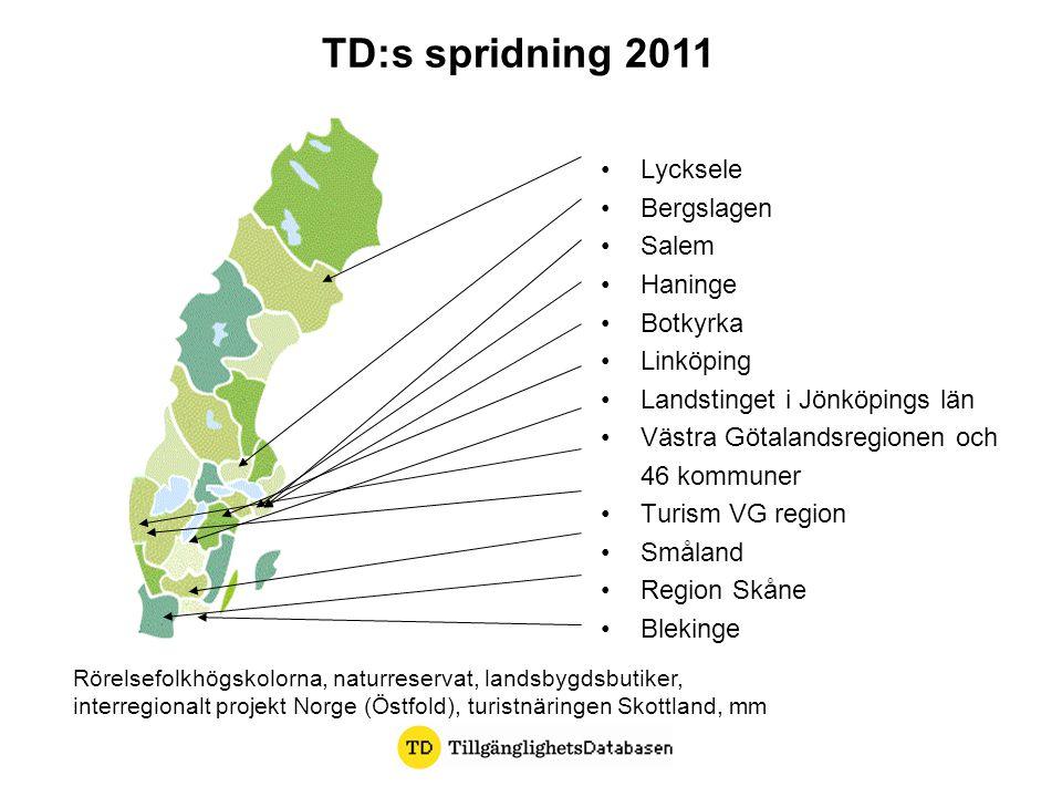 Lycksele Bergslagen Salem Haninge Botkyrka Linköping Landstinget i Jönköpings län Västra Götalandsregionen och 46 kommuner Turism VG region Småland Re