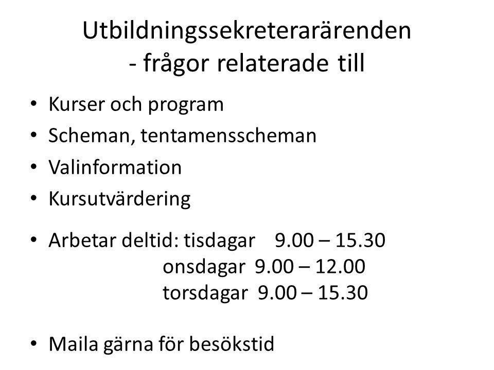Tentamenstider Skriftlig tentamen är normalt fyra timmar lång och äger rum antingen på förmiddagen (fm) kl 08:30 - 12:30 eller eftermiddagen (em) kl 14:00 - 18:00.