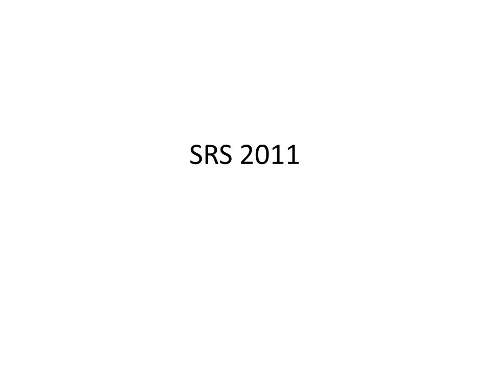 SRS 2011