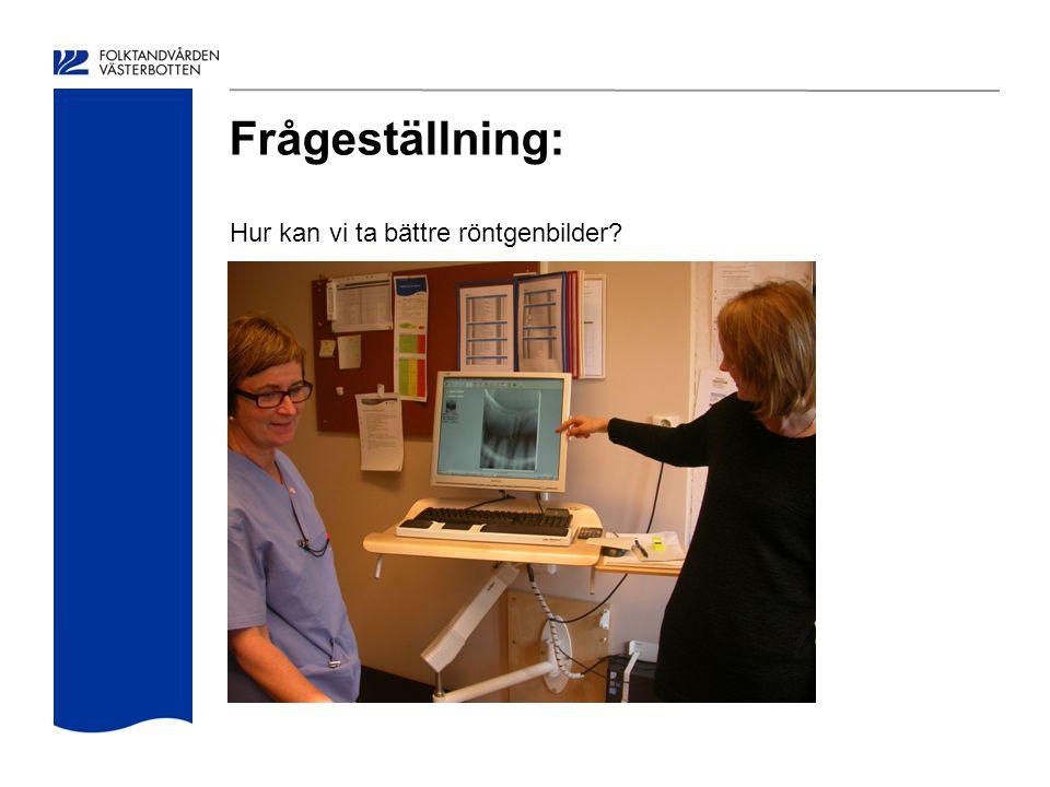 Frågeställning: Hur kan vi ta bättre röntgenbilder?