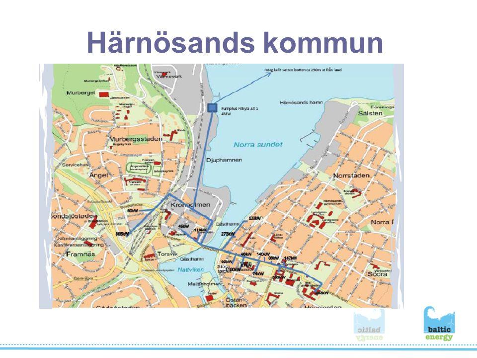 Sundsvalls kommun Inget fjärrkylenät finns idag.