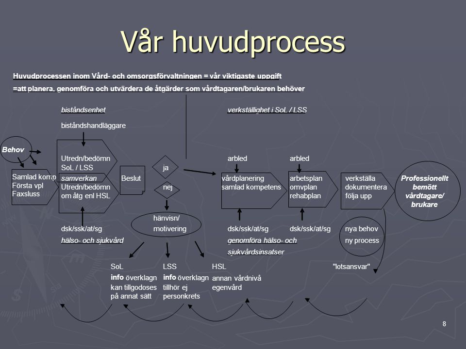8 Vår huvudprocess