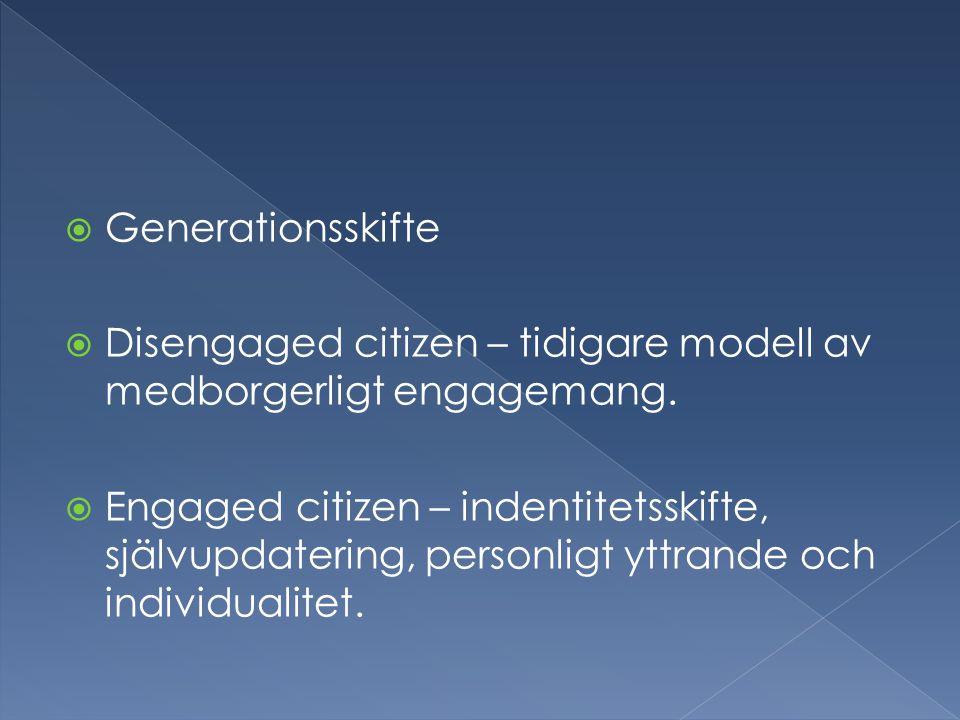 Actualizing Citizen (AC)Dutiful Citizen Weak duty to participate in government.