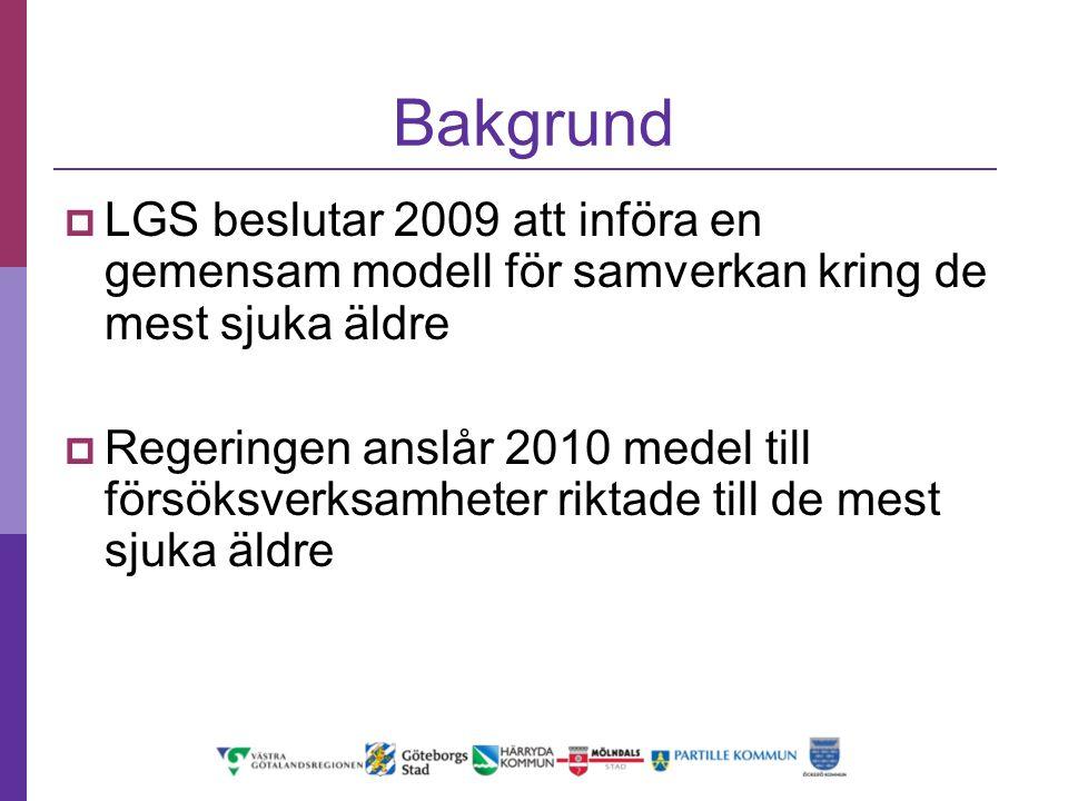Uppdrag I samverkan inom LGS området införa en standardiserad modell för vård och omsorg för de mest sjuka äldre