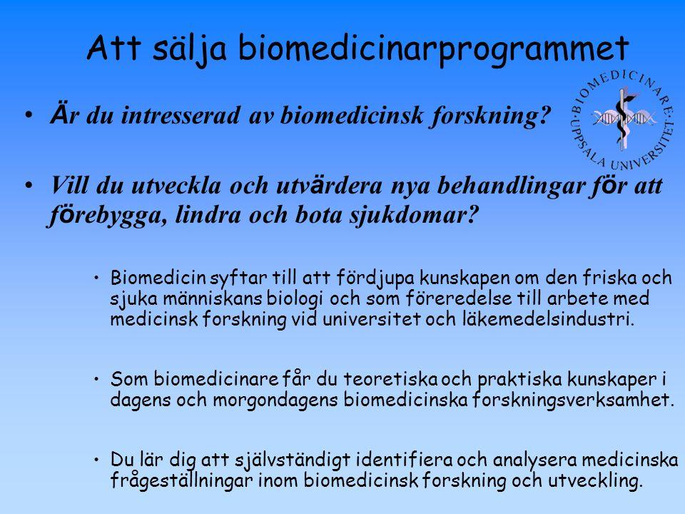 Ä r du intresserad av biomedicinsk forskning? Vill du utveckla och utv ä rdera nya behandlingar f ö r att f ö rebygga, lindra och bota sjukdomar? Biom
