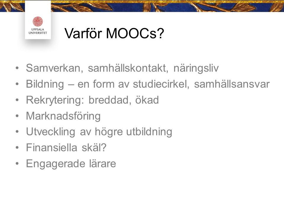 Varför MOOCs.