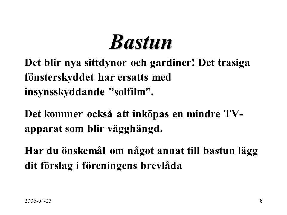 2006-04-238 Bastun Det blir nya sittdynor och gardiner.
