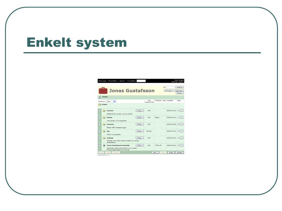 Enkelt system