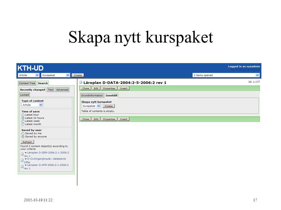 2005-10-19 11:2217 Skapa nytt kurspaket