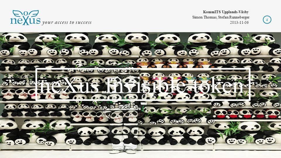KommITS Upplands-Väsby Simon Thomas, Stefan Runneberger 2013-11-06 15 +=OK Stark autentisering behövs