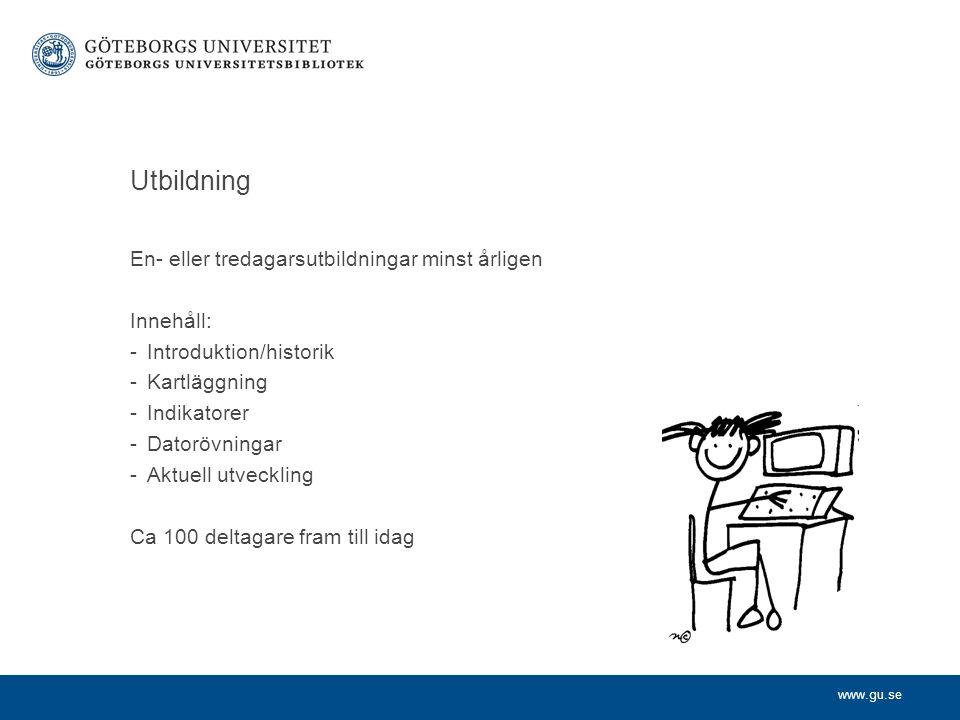 www.gu.se Kontakt Hakan.Carlsson@ub.gu.se www.ub.gu.se/bibliometri