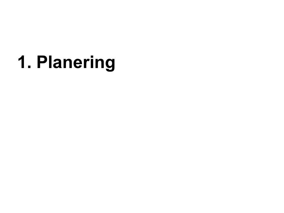 1. Planering