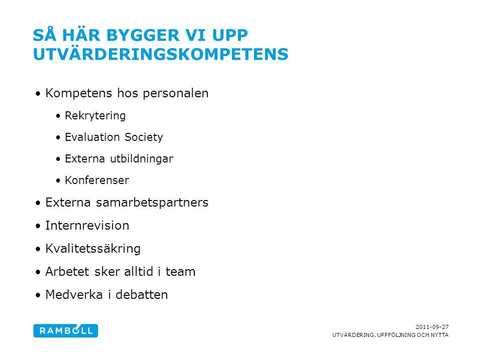 2011-09-27 UTVÄRDERING, UPPFÖLJNING OCH NYTTA KONTAKTUPPGIFTER Praktiksamordnare Lotta Bringnäs Tel.