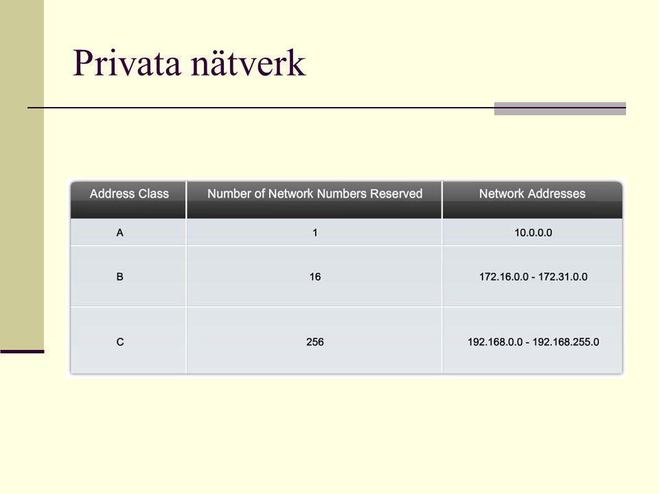 Privata nätverk