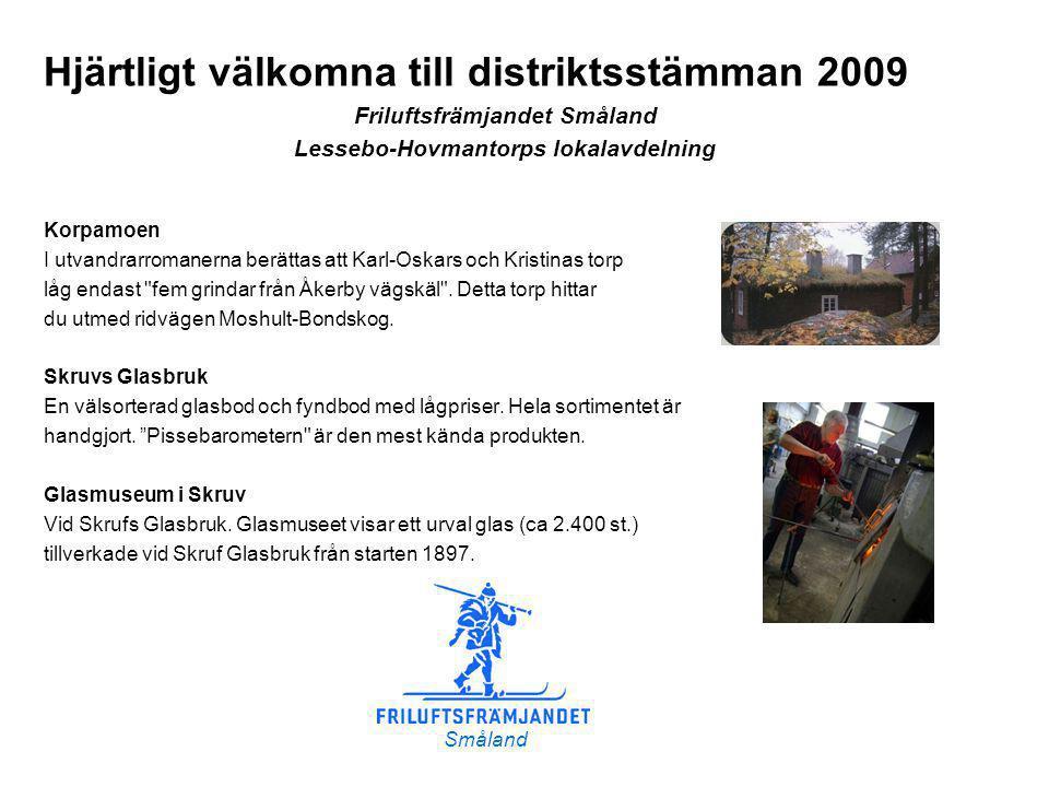 Åkerby vägskäl Korpamoen Väg 25 mot Kalmar Väg 25 mot Växjö Skruv Skruvs bryggeri Skruvs glasbruk