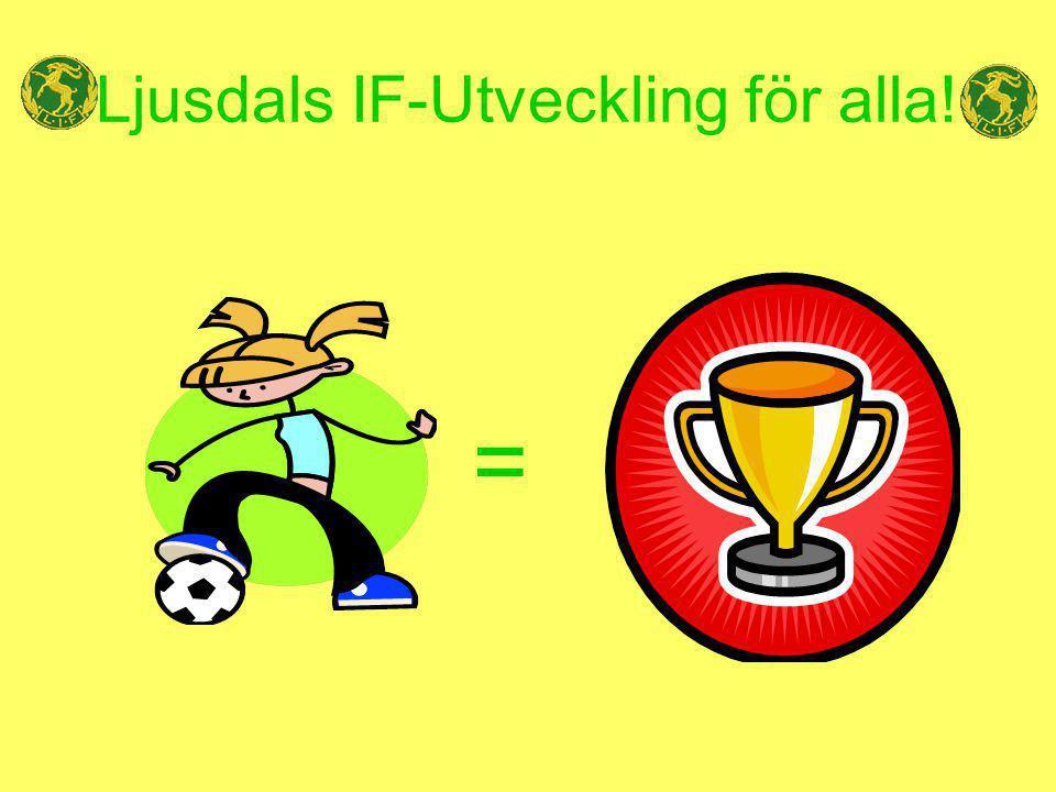 Mål/ambitionsförklaring Målsättning Ljusdals IF har som mål att ge alla ungdomar trygghet och utveckling utifrån egen vilja och kapacitet, med fotbollen som bas.