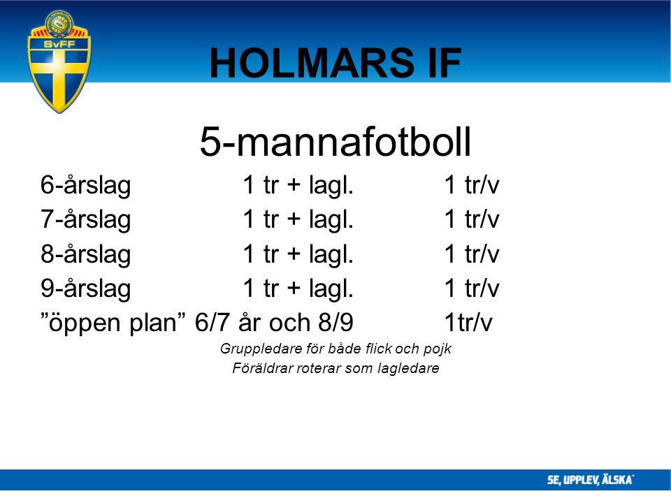 """HOLMARS IF 5-mannafotboll 6-årslag1 tr + lagl.1 tr/v 7-årslag1 tr + lagl.1 tr/v 8-årslag1 tr + lagl.1 tr/v 9-årslag1 tr + lagl.1 tr/v """"öppen plan"""" 6/7"""