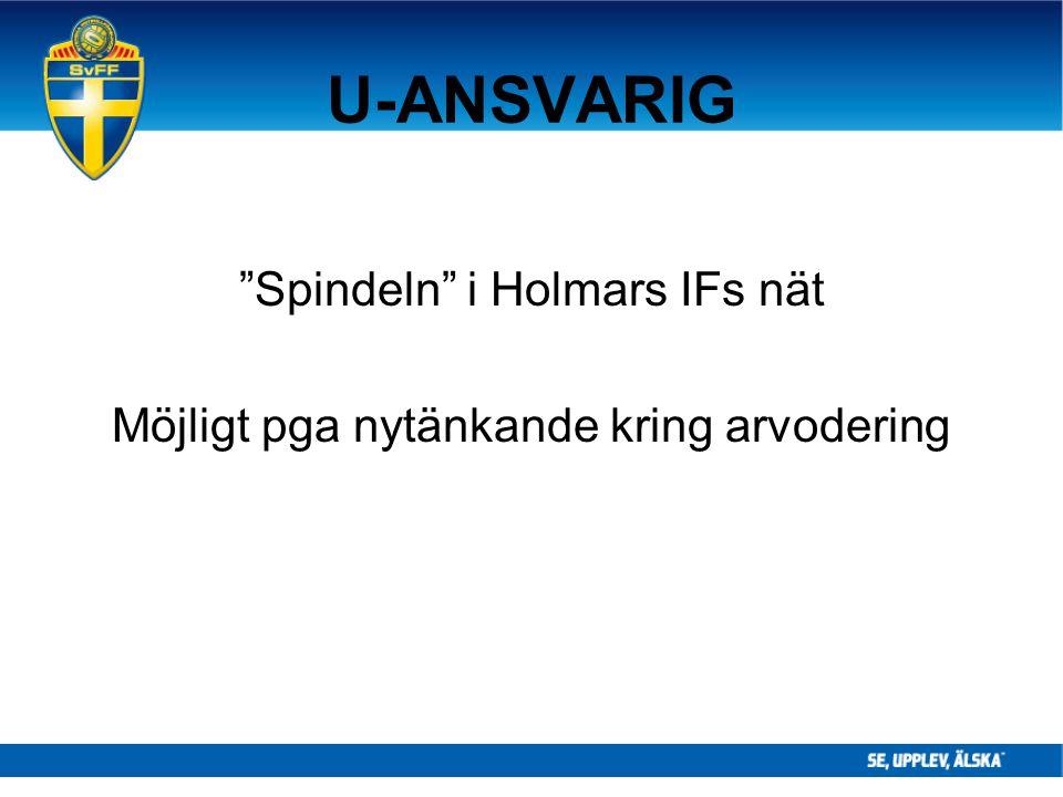 """U-ANSVARIG """"Spindeln"""" i Holmars IFs nät Möjligt pga nytänkande kring arvodering"""