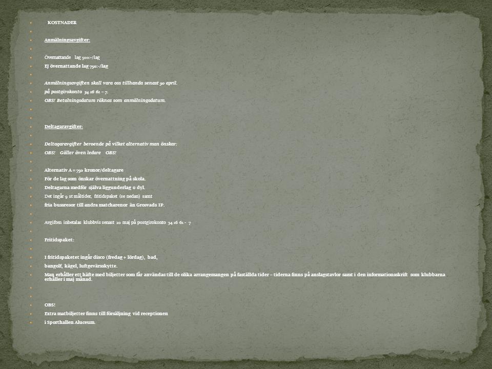 I lagkassan finns just nu (2012-05-03): 2.198 kronor Månadspengen Vad används månadspengen till.