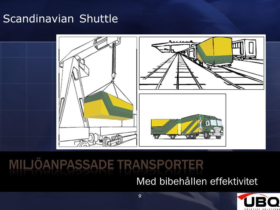 9 Med bibehållen effektivitet Scandinavian Shuttle