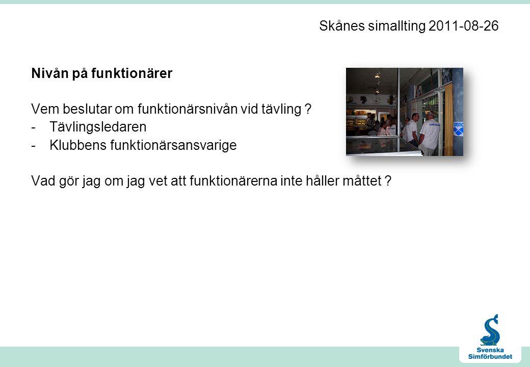 Skånes simallting 2011-08-26 Frisim i Medley Finns det någon begränsning i hur man får simma.