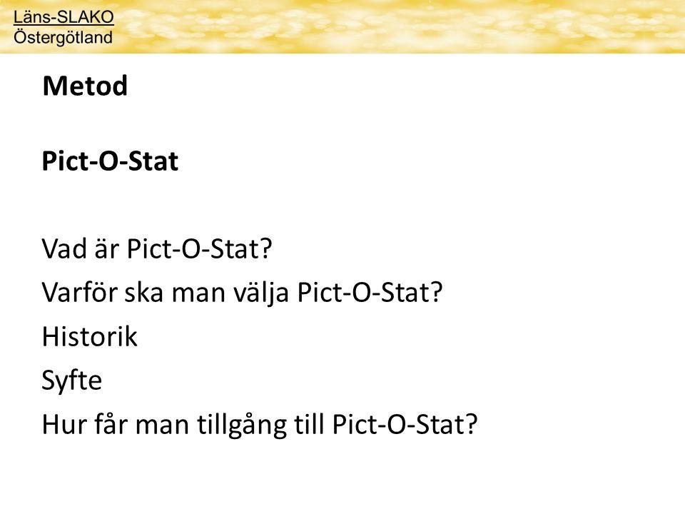 Metod Pict-O-Stat Vad är Pict-O-Stat.Varför ska man välja Pict-O-Stat.