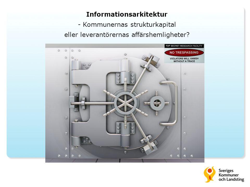 Informationsarkitektur eller leverantörernas affärshemligheter? - Kommunernas strukturkapital