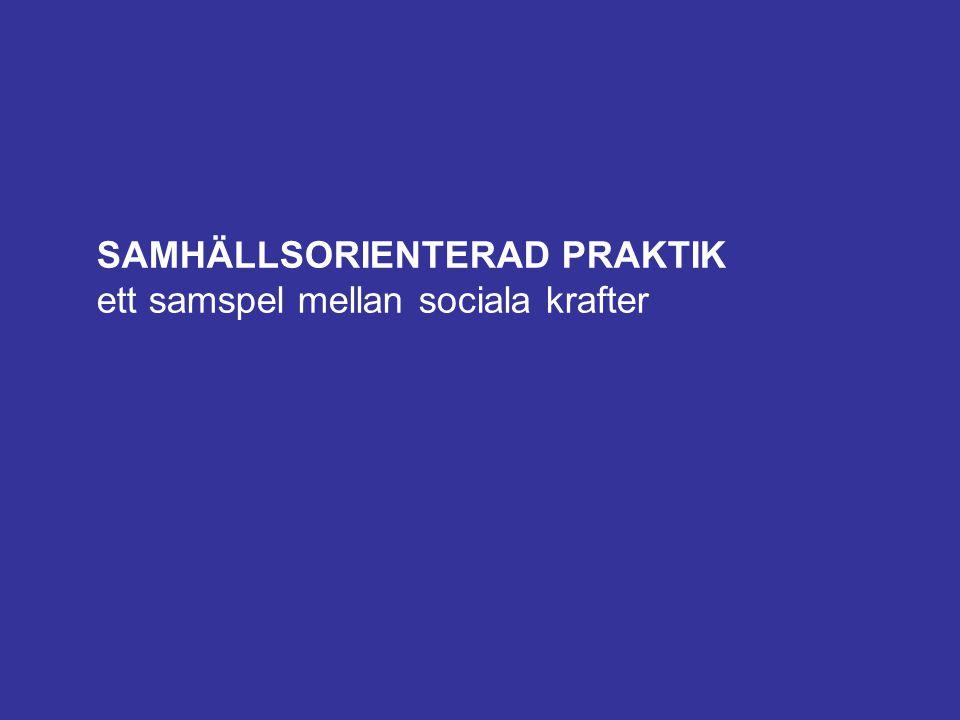 SAMHÄLLSORIENTERAD PRAKTIK ett samspel mellan sociala krafter