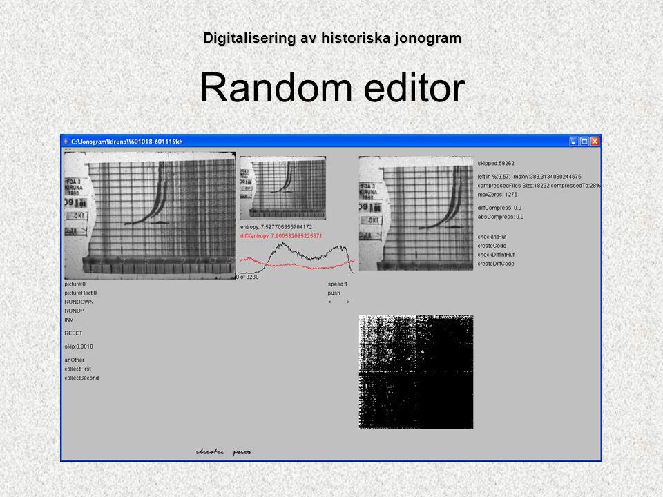 Random editor Digitalisering av historiska jonogram