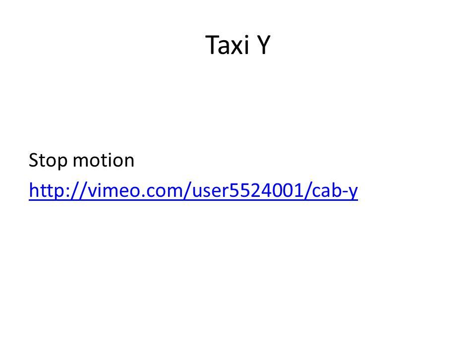Taxi Y Stop motion http://vimeo.com/user5524001/cab-y