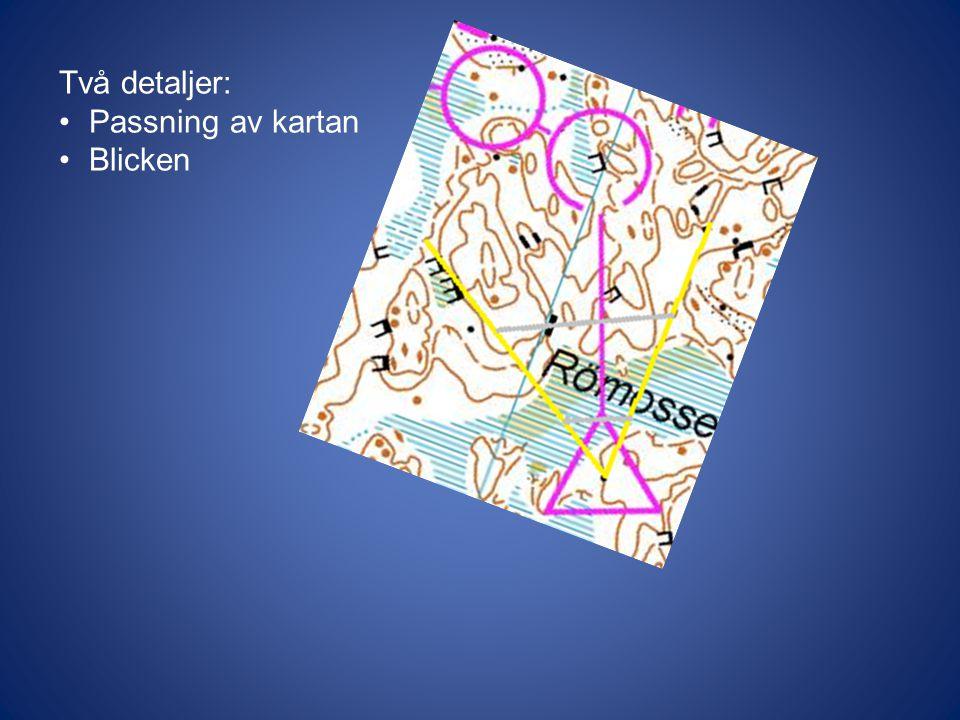 Två detaljer: Passning av kartan Blicken