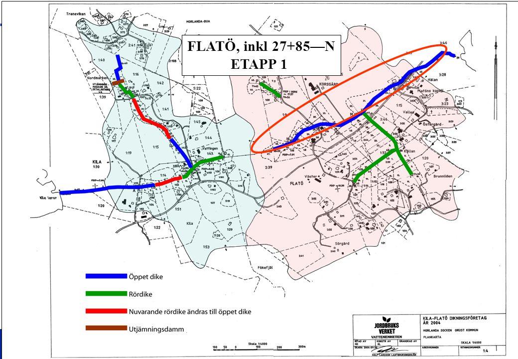 3 KILA-FLATÖ DIKNINGSFÖRETAG 2004 SAMFÄLLIGHETSFÖRENING ORDINARIE STÄMMA 2007-08-26 3 FLATÖ, inkl 27+85—N ETAPP 1