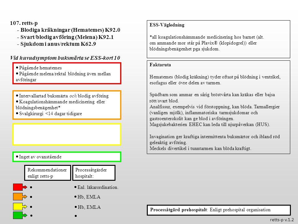  Feber >38.5  C  Ikterus hos pigg patient Processåtgärder hospitalt: 108.