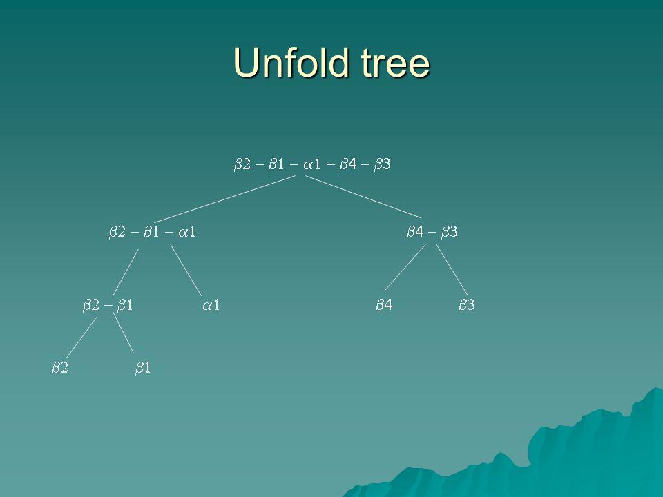 Unfold tree     