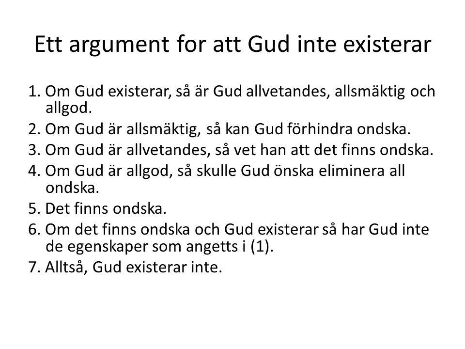 Ett argument for att Gud inte existerar 1.