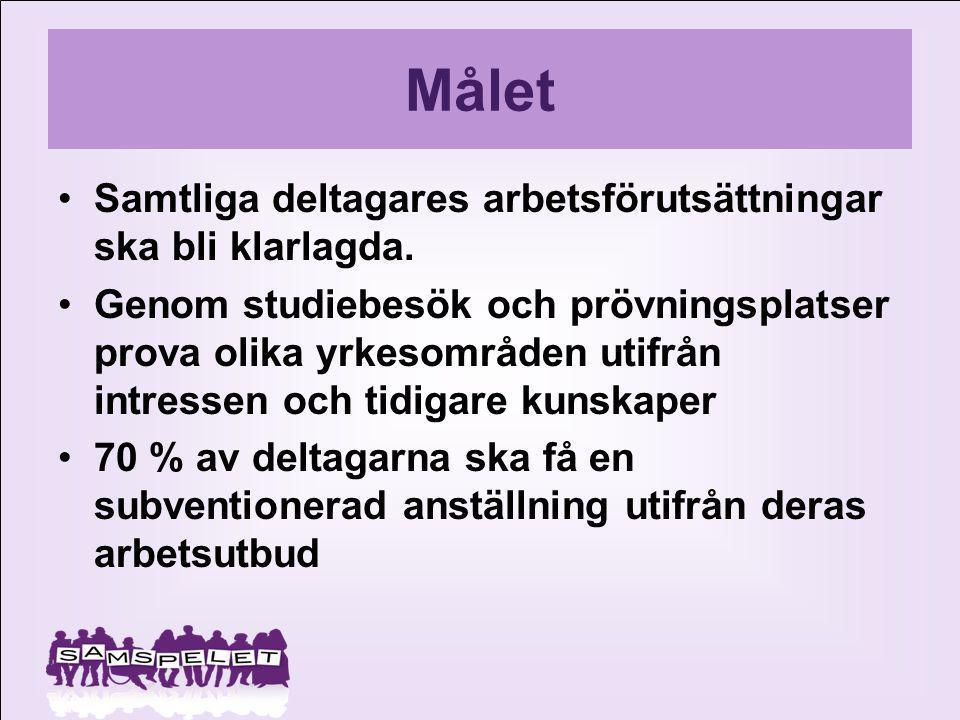 ORGANISTIONSKISS Arbetsförmedlingen Försäkringskassan Karlstad kommun Landstinget 1.Infomöte om projektet inför aktualisering.