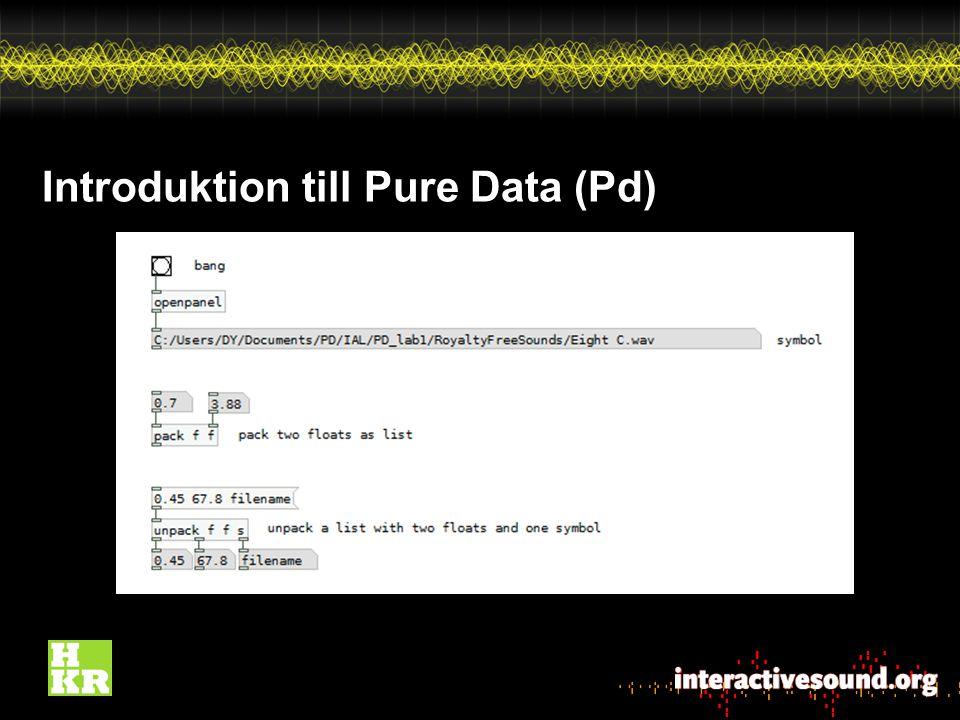 Introduktion till Pure Data (Pd)