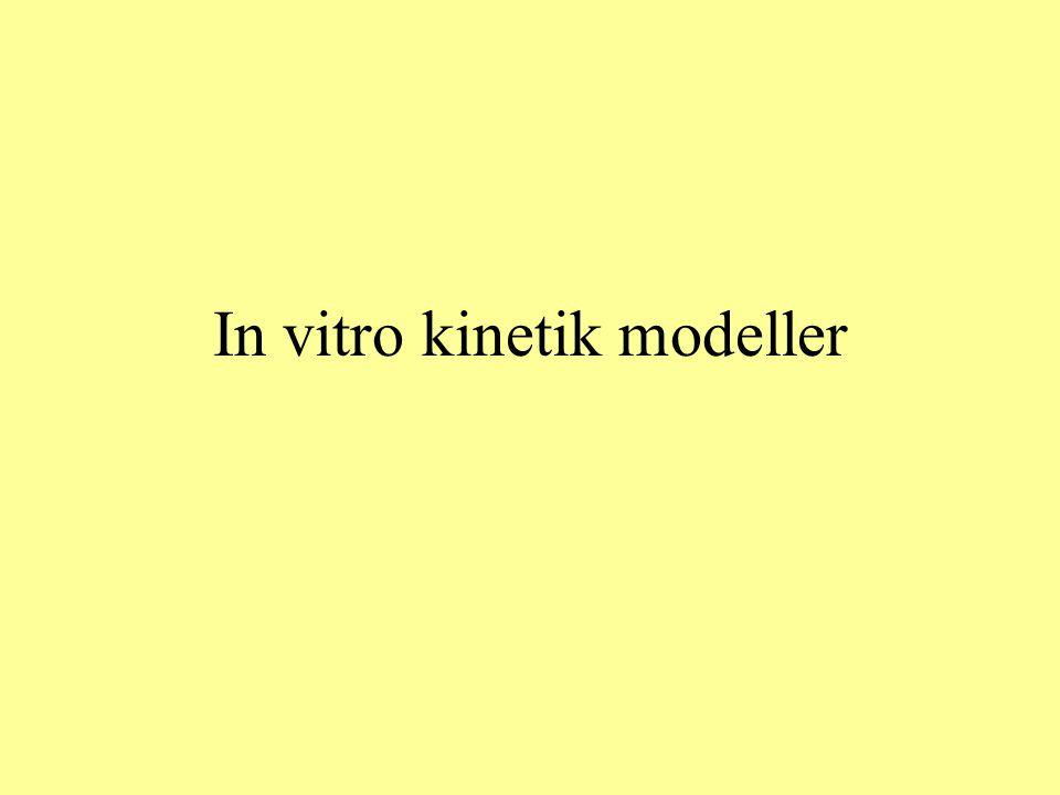In vitro kinetik modeller