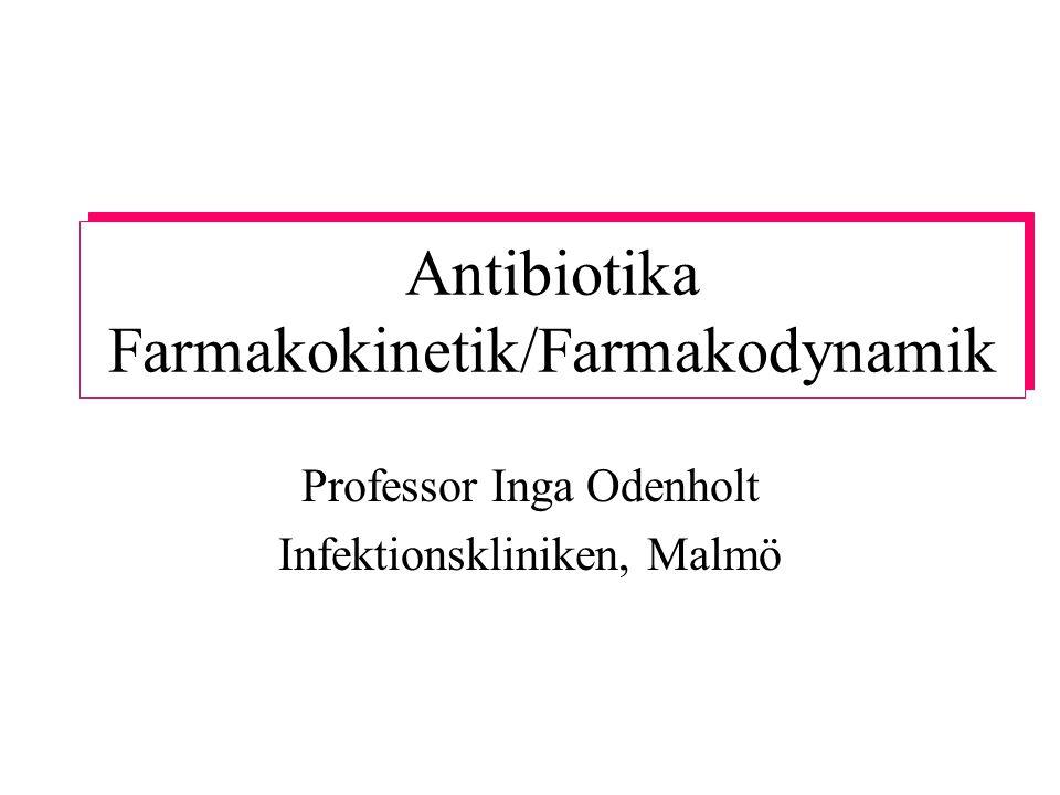Postantibiotisk effekt in vitro och in vivo