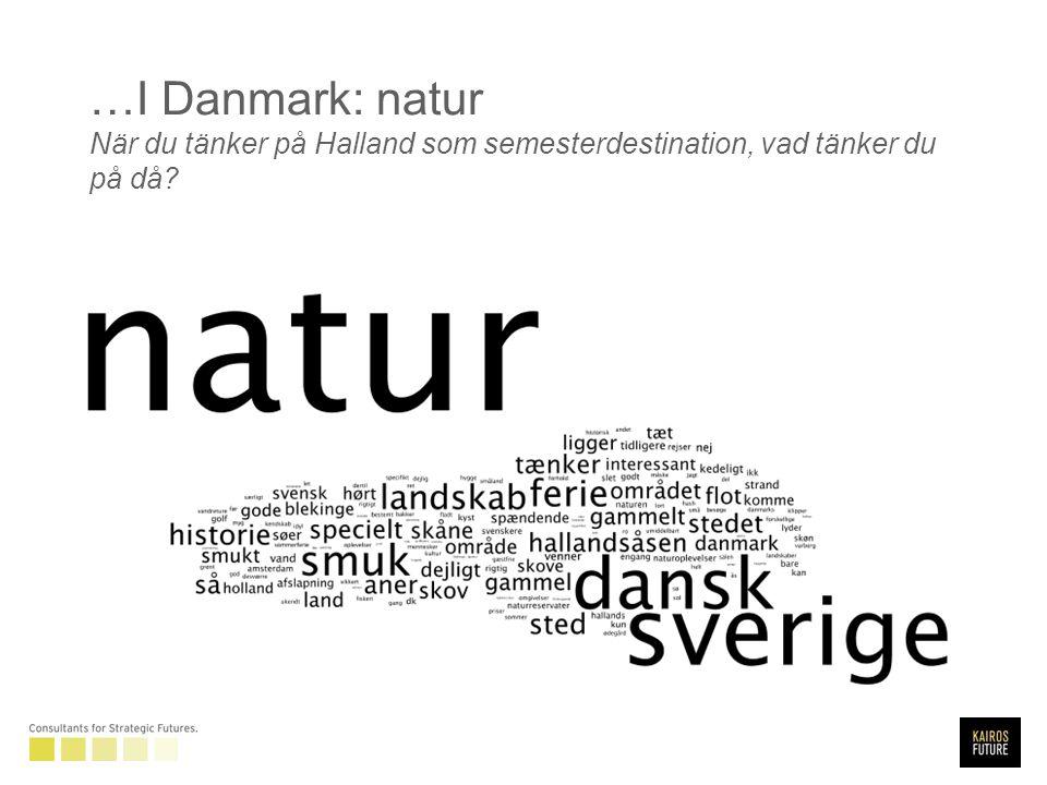 …I Danmark: natur När du tänker på Halland som semesterdestination, vad tänker du på då