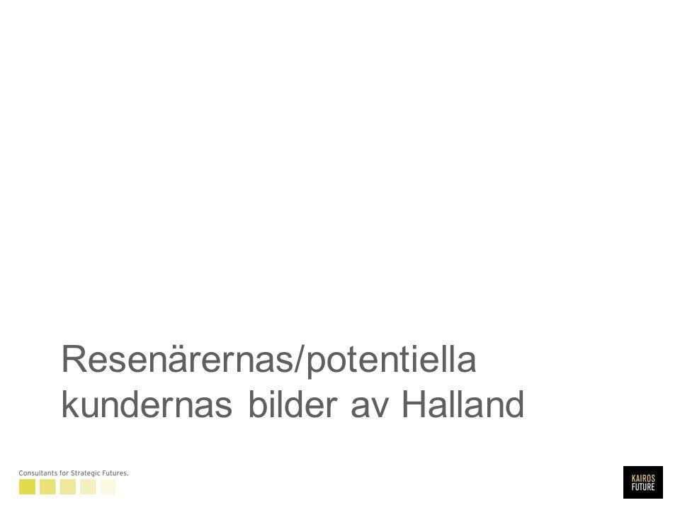 Resenärernas/potentiella kundernas bilder av Halland