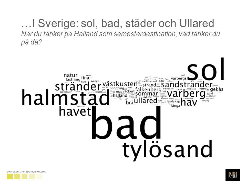 …I Sverige: sol, bad, städer och Ullared När du tänker på Halland som semesterdestination, vad tänker du på då
