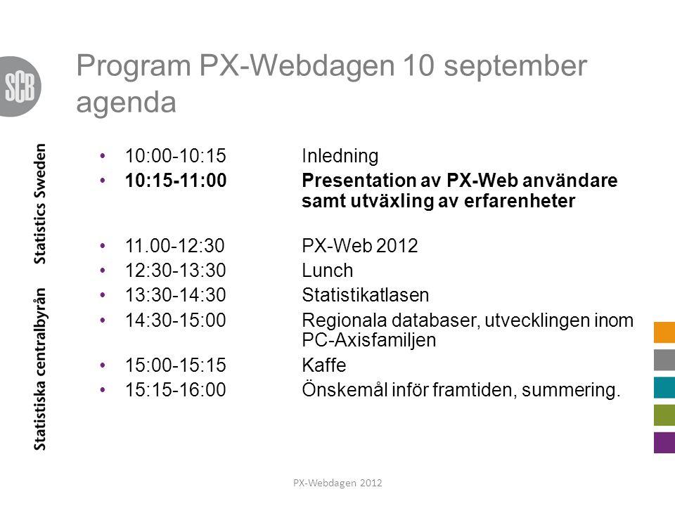 Önskemål PX-Webdagen 2012