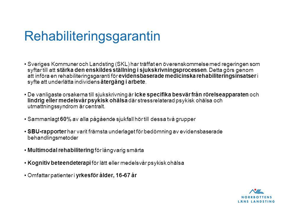 Rehabiliteringsgarantin Sveriges Kommuner och Landsting (SKL) har träffat en överenskommelse med regeringen som syftar till att stärka den enskildes s