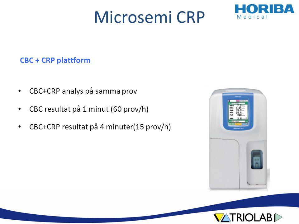 Microsemi CRP Helblodsanalys CBC 10μL / CBC+CRP 18μL Idealt för kapillära prover Inga provförberedelser Endast ett rör