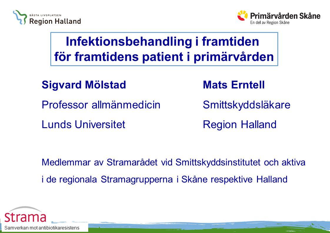 Samverkan mot antibiotikaresistens Sigvard MölstadMats Erntell Professor allmänmedicinSmittskyddsläkare Lunds UniversitetRegion Halland Medlemmar av S