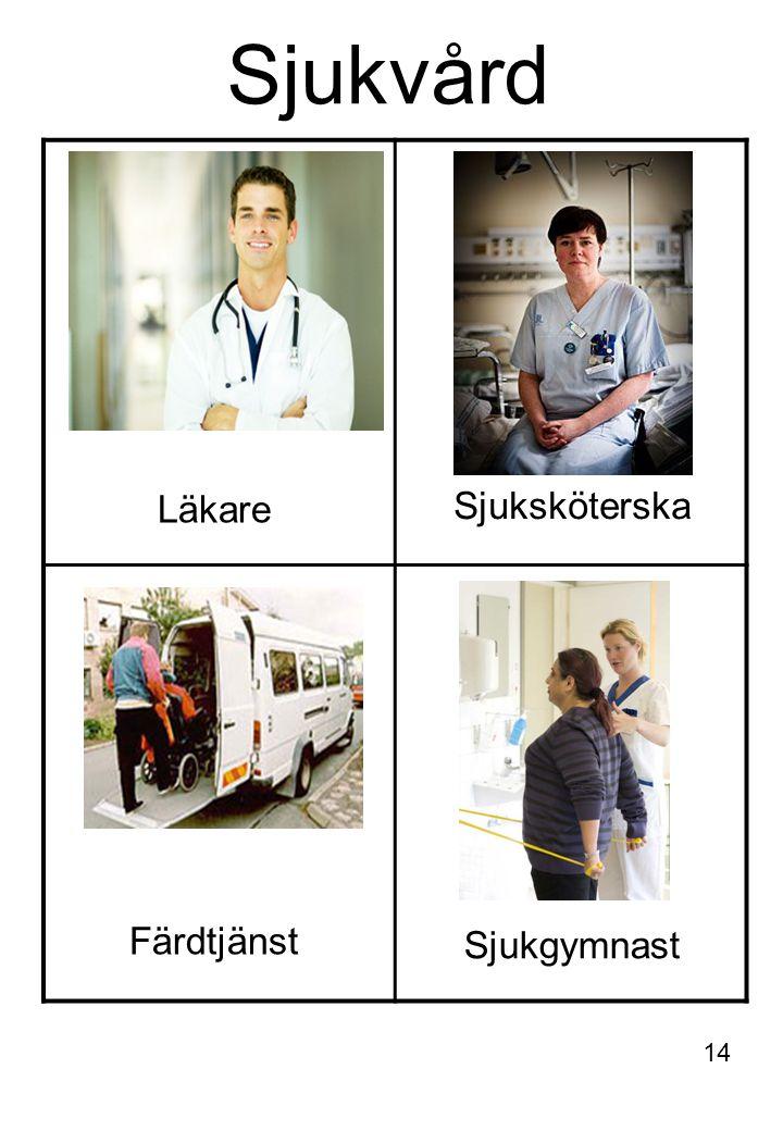 Sjukvård Läkare Sjuksköterska Sjukgymnast Färdtjänst 14