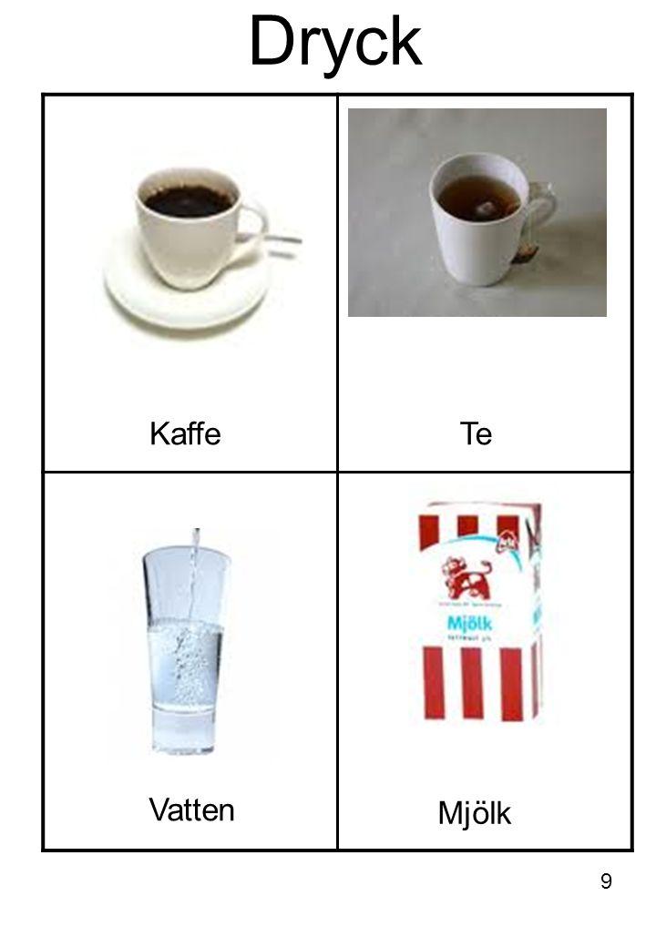 Dryck KaffeTe Mjölk Vatten 9