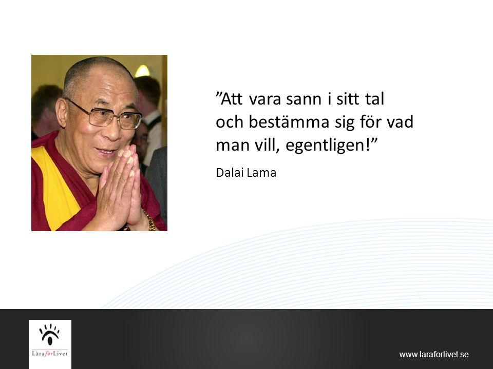 """www.laraforlivet.se """"Att vara sann i sitt tal och bestämma sig för vad man vill, egentligen!"""" Dalai Lama"""